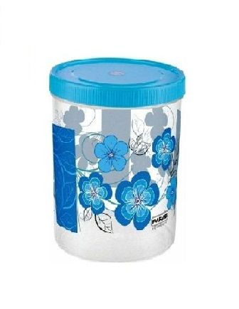 PLASTIC CONTAINER WITH SPOON 1100 ML (COLOR MAY VARY) - 1 PC