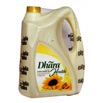 DHARA HEALTH REFINED SUNFLOWER OIL - 5 LTR