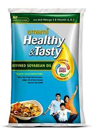 EMAMI HEALTHY & TASTY REFINED SOYABEAN OIL - 1 LTR