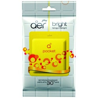 GODREJ AER POCKET BRIGHT TANGY DELIGHT BATHROOM FRAGRANCE (YELLOW) - 10 GM