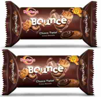 SUNFEAST BOUNCE CHOCO TWIST BISCUITS - 41 GM X 2