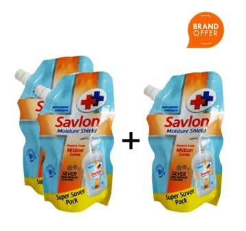 SAVLON MOISTURE SHIELD HAND WASH - 175 ML REFILL PACK BUY 2 GET 1 FREE