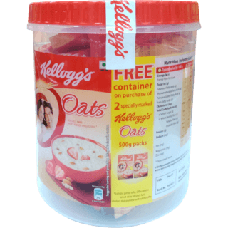 KELLOGGS OATS - 500 GM X 2 PLUS FREE JAR WORTH Rs.150