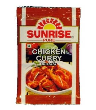 SUNRISE CHICKEN CURRY MASALA POUCH - 8 GM