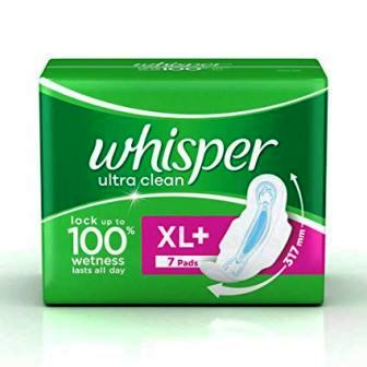 WHISPER ULTRA CLEAN XL PLUS SANITARY PADS - 7 PCS