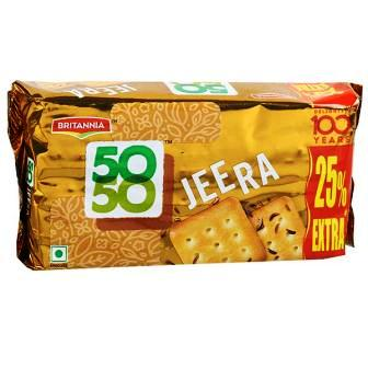 BRITANNIA 50 50 JEERA BISCUITS - 80 GM
