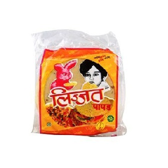 LIJJAT MASALA PAPAD PAPAR SMALL - 200 GM