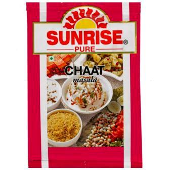 SUNRISE PURE CHAAT MASALA POUCH - 8 GM