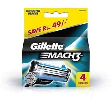 GILLETTE MACH 3 CARTRIDGES BLADES - 4 PCS