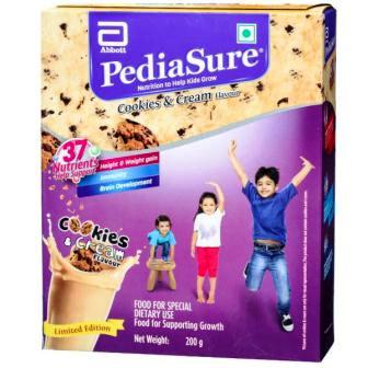 PEDIASURE COOKIES & CREAM HEALTH DRINK - REFILL PACK - 200 GM