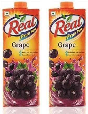 REAL FRUIT JUICE (GRAPE) COMBO - 1 LTR X 2