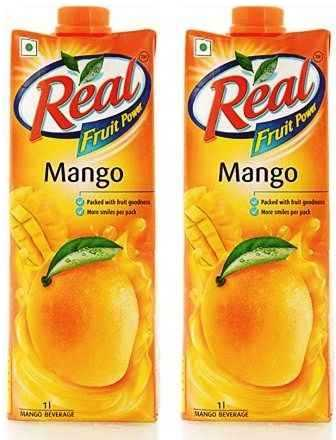REAL FRUIT JUICE (MANGO) COMBO - 1 LTR X 2