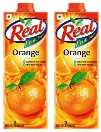 REAL FRUIT JUICE (ORANGE) COMBO - 1 LTR X 2