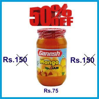 GANESH MANGO JAM OFFER - 500 GM GET 50 PERCENT OFF