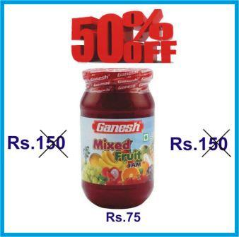 GANESH MIXED FRUIT JAM OFFER - 500 GM GET 50 PERCENT OFF
