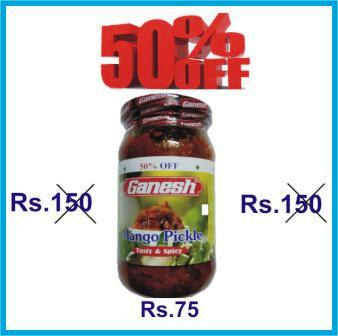 GANESH MANGO PICKLE OFFER - 400 GM GET 50 PERCENT OFF