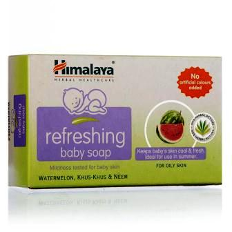 HIMALAYA REFRESHING BABY SOAP - WATER MELON KHUS KHUS & NEEM - 75 GM