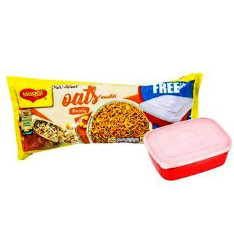 MAGGI MASALA OATS NOODLES - 300 GM PLUS FREE TIFFIN BOX