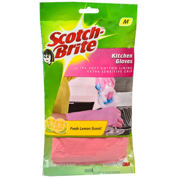SCOTCH BRITE KITCHEN GLOVES MEDIUM - 1 SET