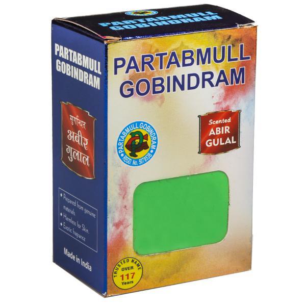 PARTABMULL GOBINDRAM GREEN ABIR GULAL - 100 GM