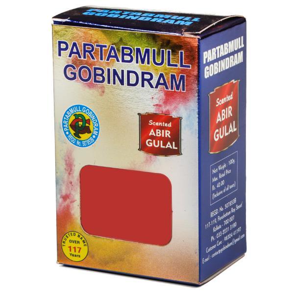 PARTABMULL GOBINDRAM RED ABIR GULAL - 100 GM