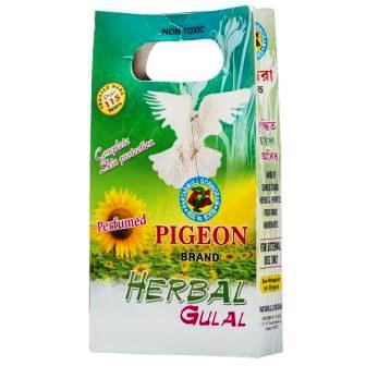 PIGEON HERBAL YELLOW ABIR GULAL - 100 GM