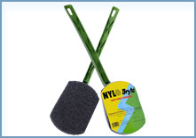 NYLON BRYTE SCRUBBER WITH HANDLE - 1 PC