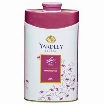 YARDLEY LONDON LACE SATIN PERFUMED TALC - 100 GM