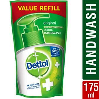 DETTOL ORIGINAL HAND WASH VALUE REFILL PACK (GREEN) - 175 ML