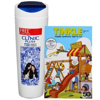 CLINIC PLUS STRONG & LONG HEALTH SHAMPOO  175 ML FREE STORY BOOK WORTH RS 40