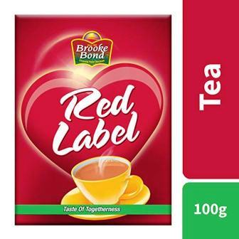 BROOKE BOND RED LABEL TEA POUCH - 100 GM