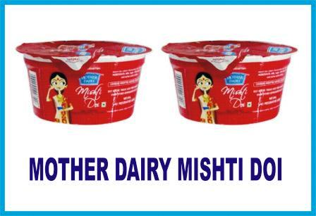 MOTHER DAIRY MISHTI DOI - DAHI - CURD - 85 GM X 2