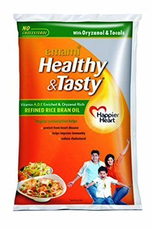 EMAMI HEALTHY & TASTY RICE BRAN OIL - 1 LTR