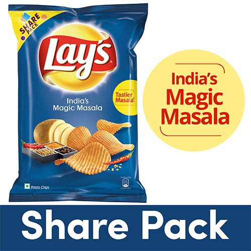 LAYS POTATO CHIPS INDIAN MAGIC MASALA - 90 GM
