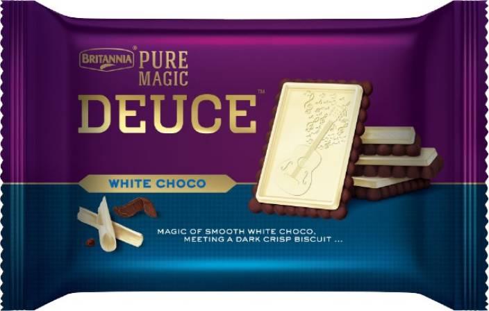 BRITANNIA PURE MAGIC DEDUCE - WHITE CHOCO BISCUIT - 60 GM
