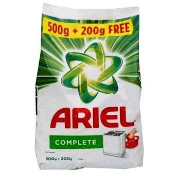 ARIEL COMPLETE DETERGENT POWDER - 500 GM PLUS 200 GM FREE