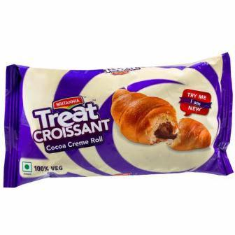 BRITANNIA TREAT CROISSANT COCOA CREME ROLL - 50 GM