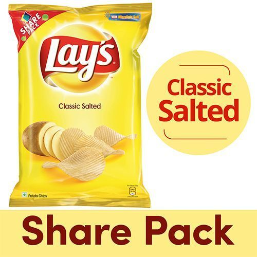 LAYS POTATO CHIPS CLASSIC SALTED - 90GM