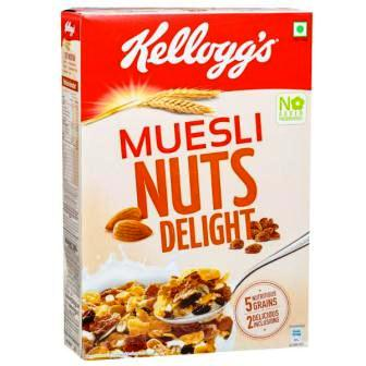KELLOGGS MUESLI NUTS DELIGHT CORN FLAKES - 500 GM