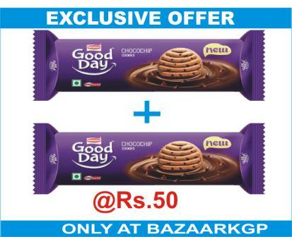 BUY 2 BRITANNIA GOOD DAY COOKIES - CHOCO CHIP AT RS.50