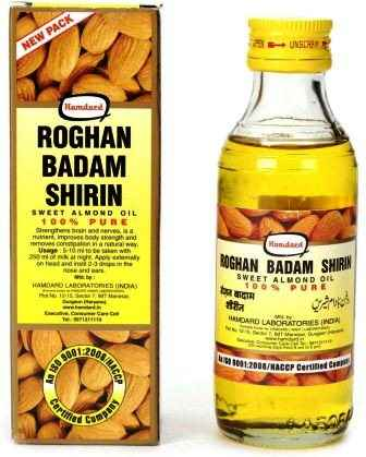 HAMDARD ROGHAN BADAM SHIRIN - SWEET ALMOND OIL - 25 ML