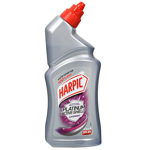 HARPIC PLATINUM ACTIVE SHIELD LAVENDER TOILET CLEANER - 500 ML