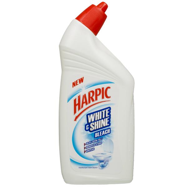 HARPIC WHITE SHINE BLEACH TOILET CLEANER - 500ML