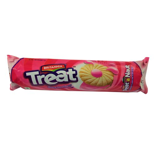 BRITANNIA TREAT - STRAWBERRY BISCUITS - 150 GM