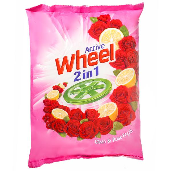 WHEEL ACTIVE 2 IN 1 CLEAN & ROSE FRESH DETERGENT POWDER - 800 GM