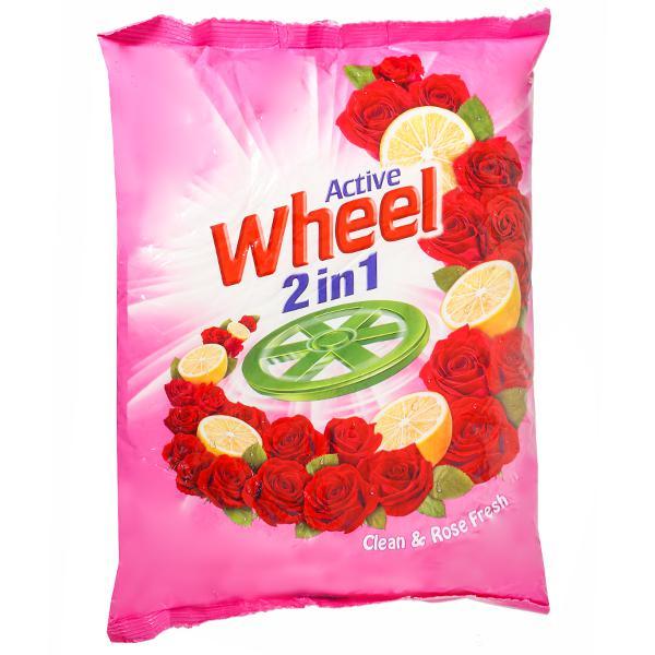 WHEEL ACTIVE 2 IN 1 CLEAN & ROSE FRESH DETERGENT POWDER - 800 GM