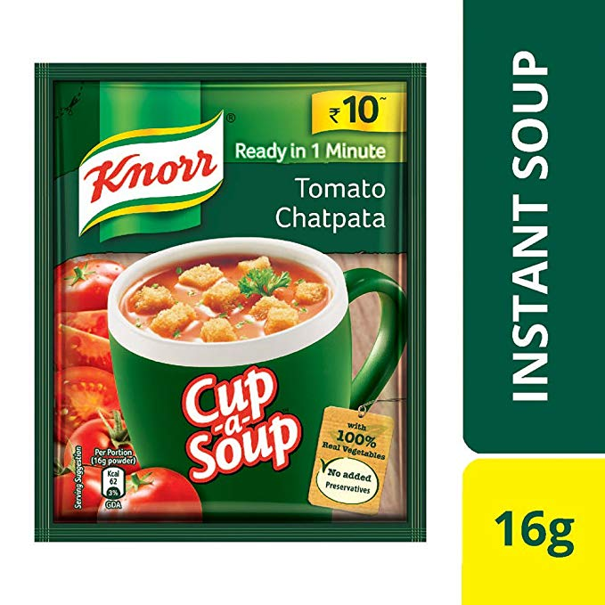 KNORR TOMATO CHATPATA SOUP - 14 GM
