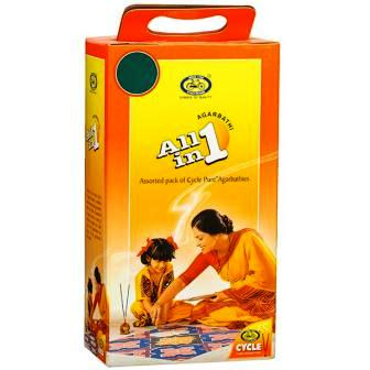 CYCLE ALL IN 1 AGARBATTI (FREE DHUP KUMKUM TURMERIC POWDER AGARBATTI HOLDER) - 1 PKT