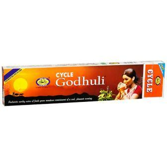 CYCLE AGARBATTI GODHULI - DHUPKATHI - INCENSE STICK - 125 GM FREE MATCH BOX