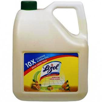LIZOL 10 X FLOOR CLEANER CITRUS - 5 LTR JAR